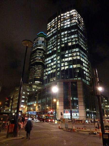 Tower 42 at night